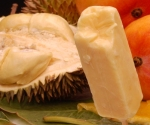 durian ice lolly with fruits